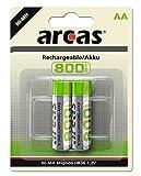 Mobile Energie - 2 Batterien der Baugröße AA, Mignon zur Stromversorgung kleiner, meist tragbarer Geräte zuhause, unterwegs und am Arbeitsplatz Schnellladefähige Akkus mit langer Lebensdauer (bis zu 1.000 Ladungen / Entladungen möglich), ungefährlich...
