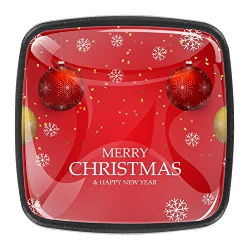Tarjeta de Fondo de Vector de luz de Navidad o invitación Pomo,4 Piezas Tiradores de Muebles Perillas de Natural Perillas del Gabinete con Tornillo para Puertas Armarios de Cocina Tirador Cajones
