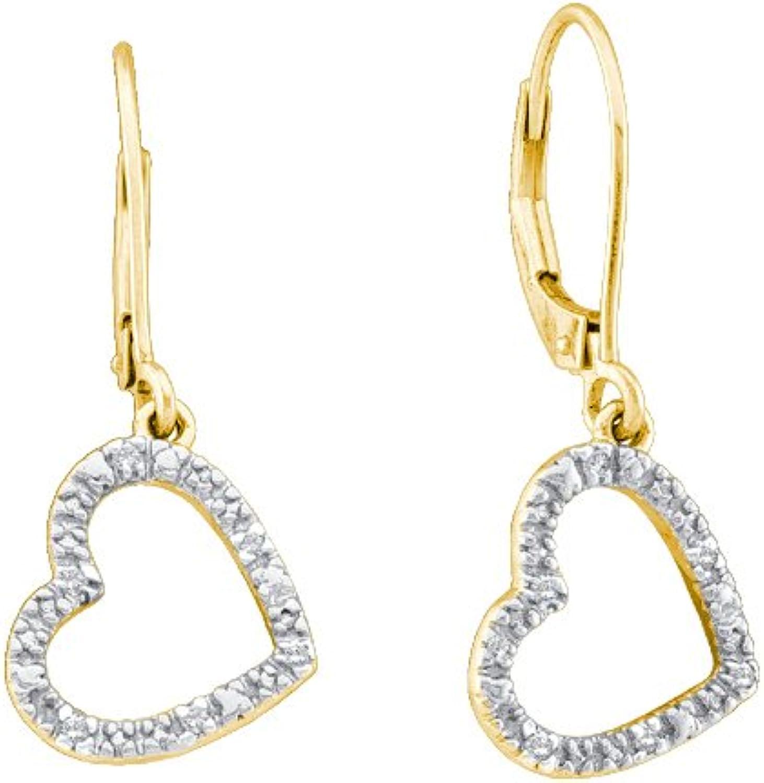 1 20 Total Carat Weight DIAMOND LADIES HEART EARRINGS