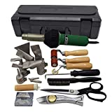 Professional PVC/TPO Single Ply Roofing Welding Tools Heat Gun Kit,120V 1600W Plastic Welder Hot Air Weld Gun with Roofing Seam Rollers/Seam Tester Probe and Weld Nozzle (Plastic Carrying Case)