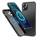 Jonwelsy Magnetico Cover per iPhone 11 PRO, Compatibile con MagSafe Paraurti Antiurto Gel di Silicone Liquido Morbido, Protezione Case Vetro Temperato Opaco Custodia per 11 PRO (5,8') (Nero)