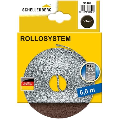 Schellenberg 36104 ancho, color marrón, Maxi 23 mm/6 m