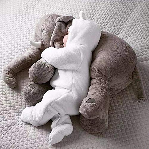 Bebé suave felpa elefante almohada para dormir muñeca tranquila juguetes cama para dormir cojín para asiento lumbar niños portátil dormitorio