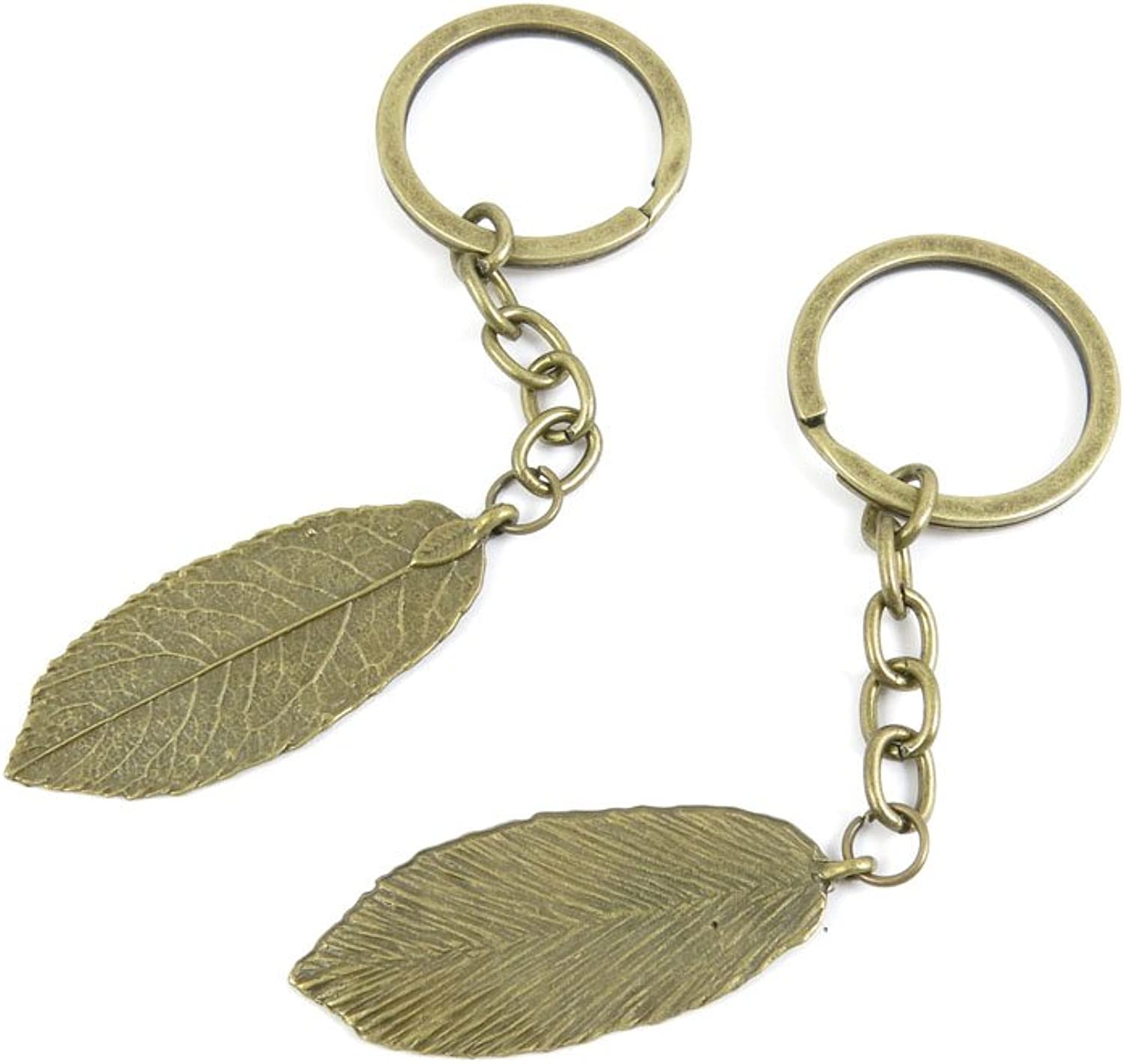 170 Pieces Fashion Jewelry Keyring Keychain Door Car Key Tag Ring Chain Supplier Supply Wholesale Bulk Lots V6AP2 Leaf Leaves