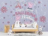 Papel Pintado de Pared Peppa Pig Ballerina Academy, Producto Oficial, decoración para Habitaciones, decoración para Paredes, Mural