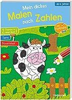 Mein dickes Malen nach Zahlen. Ab 6 Jahren: 2 Themen in einem Buch: Tiere und Bauernhof