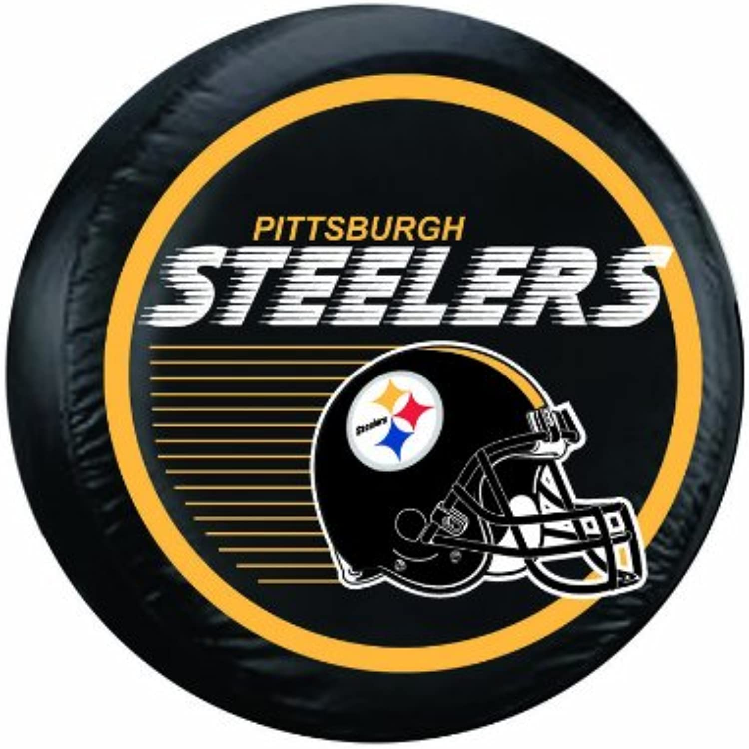 NFL Pittsburgh Steelers Large Tire Cover, Black