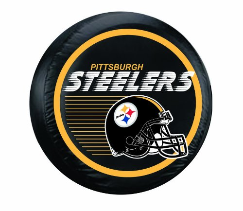 Pittsburgh Steelers NFL Spare Tire Cover (Black)