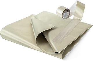 "TitanRF Faraday Fabric 44"" x 36"" (.91m x 1.1m) + Extra 36"" TitanRF Tape! Military Grade Certified Material Blocks RF Signa..."