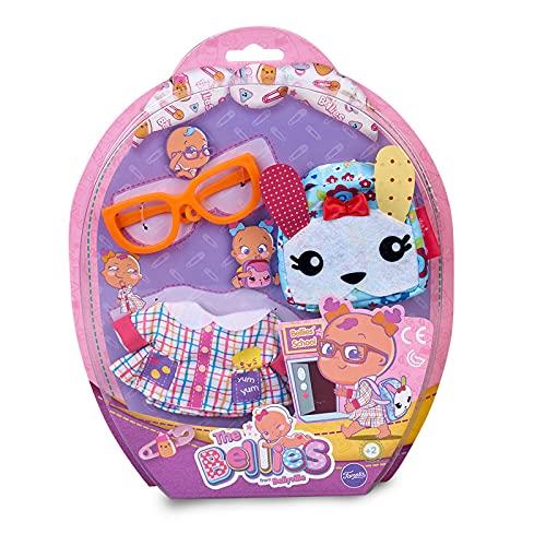 Bellies- Ropita del cole, mochila Rabbit Famosa 700015318, (la muñeca no está...
