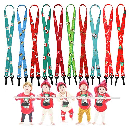 10PCS Christmas Kids Face mask Lanyard, Designed for Adults and Kids,to Prevent Loss of mask, Characters Lanyard (Christmas 10PCS(B))