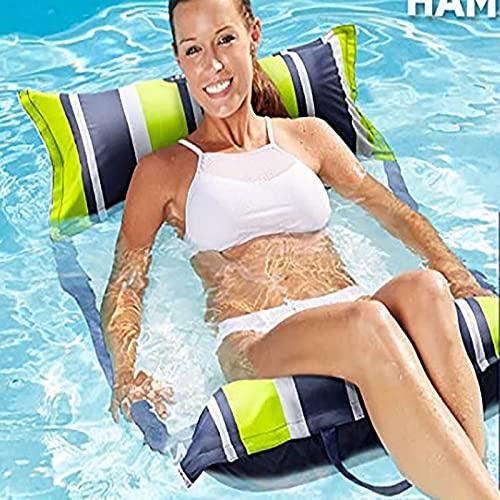 Piscina flotante cama de gama alta impresión color piscina hamaca multifuncional inflable agua hamaca salón adultos piscina flotante pesado