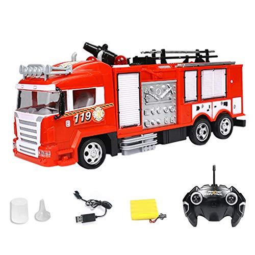 ZHIYA Camión de Bomberos de control remoto camión de Rescate de Bomberos con Control Remoto Vehículo de ingeniería de control remoto for niños 360 Rotar richly
