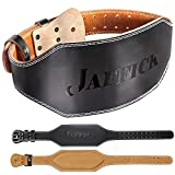 Jaffick Genuine Leather Weight Lifting Belt for Men Gym Weight Belt Lumbar Back Support Powerlifting Weightlifting Heavy Duty Workout Training Strength Training Equipment