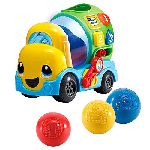 VTech-80-601922 Mixter Camion béton pour Enfant avec Plus de 75 mélodies, chansons et vocs, apprend Les Formes, Les Chiffres et à mélanger Les Couleurs grâce à des lumières, Multicolore (3480-601922)