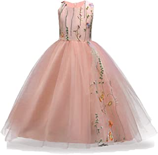 3-14 Years Flower Big Little Girls Pageant Dress Girl Tulle Wedding Princess Gown Party Dresses