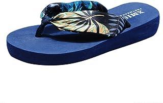 Women Open Toe Flip-Flops Sandals ❀ Ladies Beach Anti-Slip Bosmia Shoes Post Slippers Floral Print Shoes