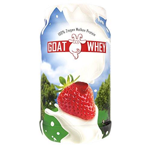 LSP Sports Nutrition Goat Whey (Ziegen Molken Protein) Erdbeere, 600 g