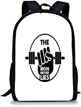 Goloingm The Iron Never Lies Quote Students School Backpack Print Boys Bookbag for Travel