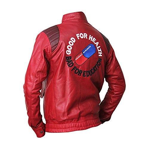 Akira Shotaro Kaneda Kostüm Freizeitkleidung Bomber Biker Kunstleder Jacke Gr. S, rot