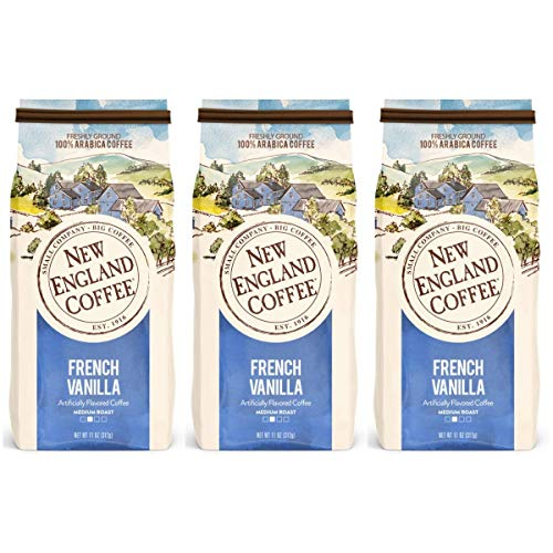 New England Coffee, French Vanilla, 11 oz Bag (3 Count)