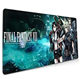 Final Fantasy VII Mouse Pad 15.8x35.5 in Gamer Office Home Multi-Functional Non-Slip Mouse Pad Desk Pad