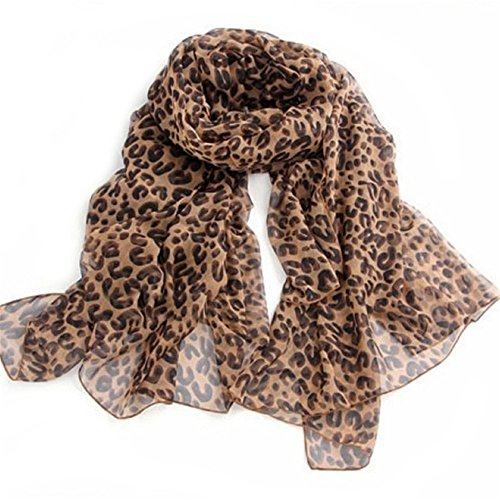DDU Leopard Gepard Tier Muster Mode Frauen Mädchen Weich Tuch Stola Schal Halstuch