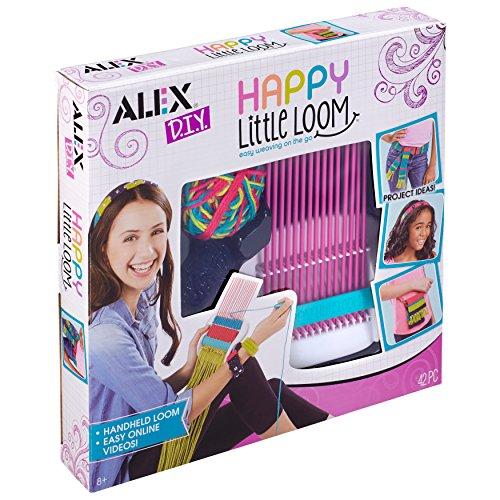 Alex 602040 DIY Happy Little Loom 42 szt., wielokolorowy, 29,71 x 30,48 x 5,33 cm