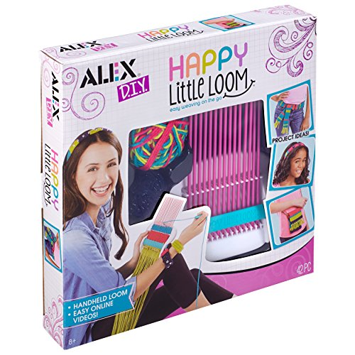 Alex- DIY Happy Little Loom 42pc Telar, Multicolor, 29.71 x 30.48 x 5.33 cm (Janod 602040-5)