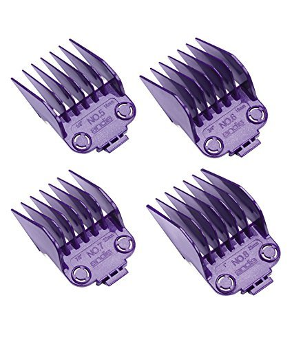 Andis 01415 Large Nano-silver Magnetic Comb Set of 4pcs