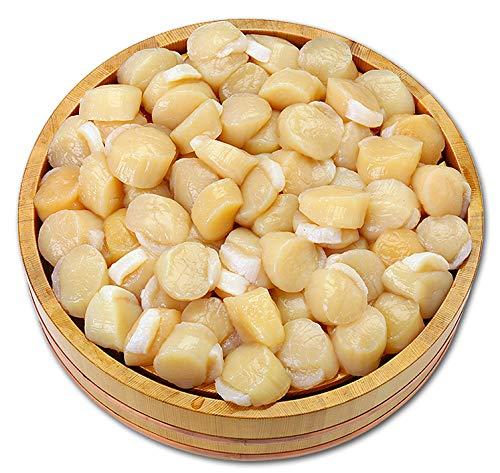 甲羅組 正規品 北海道産 お刺身 生ほたて 貝柱 どっさり 1kg 約80~150粒前後