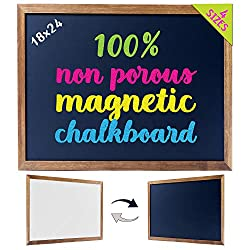 Magnetic non-porous chalkboard