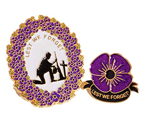 2018 PURPLE POPPY PIN BADGE: ALL GAVE SOME, SOME GAVE ALL