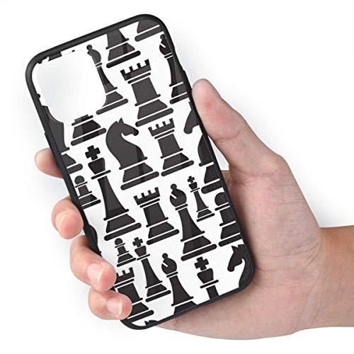 ZARLAY Carcasa para teléfono Carcasas para iPhone 11 / iPhone 11 Pro/iPhone 11 Pro MAX Carcasa Negra,Piezas de ajedrez