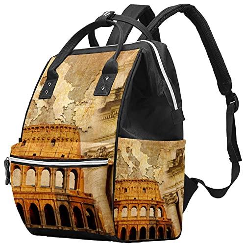 WJJSXKA Zaini Borsa per pannolini Laptop Notebook Zaino da viaggio Escursionismo Daypack per donna Uomo - Grande stile vintage Impero Romano