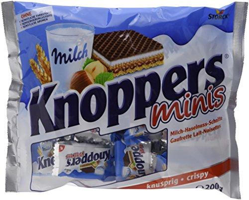 Knoppers, das Frühstückchen – 4er Pack (4 x 200g Beutel) – und alles ist drin! Knoppers Minis