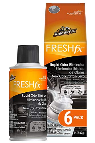 Armor All Car Air Freshener and Purifier - Odor Eliminator for Cars & Truck, New Car, Fogger, Pack of 6, 18507