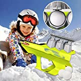 Diandou 2-in-1 Snowball Blaster Gun,Snowball Launcher and Maker,Snowball Blaster Gun Snow Ball Shooter,Outdoor Winter Snow Fight Game Toys for Kids and Adults (Green)