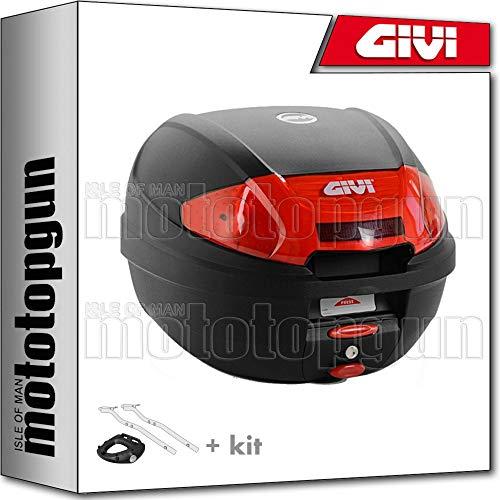 GIVI MALETA E300N2 + PORTA-EQUIPAJE COMPATIBLE SUZUKI GSF 650 BANDIT S L1 2011 11 2012 12