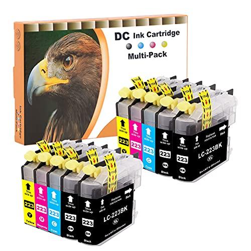 DundC 10 Set Druckerpatronen Tintenpatrone komp. für Brother LC-221 LC-223 DCP J4120 DWG,J562 DW,MFC J4420 DW,J4620 DW,J4625 DW,J480 DW,J5320 DW,J5620 DW,J5625, J5720 DW,J680 DW,J880 DW mit Chip