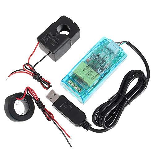 Módulo electrónico 0-100A CAJA DE COMUNICACIÓN DE CA TTL MÓDULO ENERIAL DE VOLTAJE FRECUENCIA DE POTENCIA MODBUS-RTU con caso PZEM-004T Equipo electrónico de alta precisión
