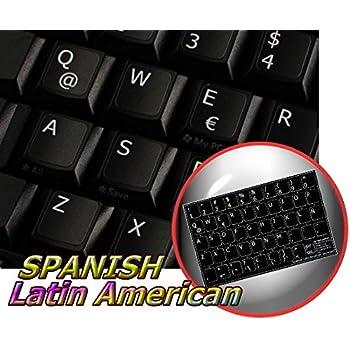MAC SPANISH KEYBOARD STICKERS BLACK BACKGROUND