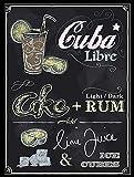 DIAN CLUB Cuba Libre Wand Blechschild Eisen Malerei Metall