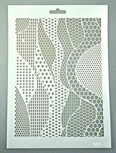 Art Life Schablone zum Malen und Zeichnen A4, 21 x 29 cm, Stencil, wiederverwendbar, Motiv Landschaft, Universum, Mikrowelt, Ozean