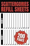 Scattergories Refill Sheets 200 Pages: Keep track your game   Paper Sheets for Playing Scattergories   Score Game Record Book