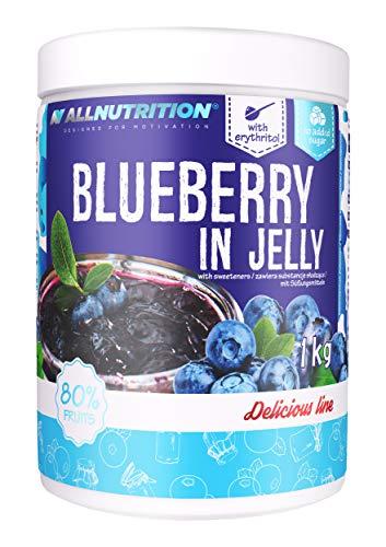 ALLNUTRITION Fruits in Jelly 1er Pack 1000g Früchte im Gelee ohne Zucker kalorienarm diätetisch süßer Nachtisch mit ganzen Früchten für einen einfacheren Muskelaufbau ( Blaubeere )