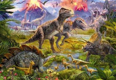 Educa Borras - Genuine Puzzles, Puzzle 500 piezas, Encuentro de dinosaurios (15969)