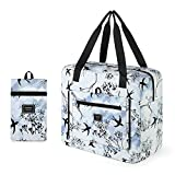 Gonex Travel Duffel Bag, Foldable Small Duffle Carry on Luggage Personal Item Bag Weekender Tote Bags Overnight Hospital Bag for Women Girls 30L Swallow