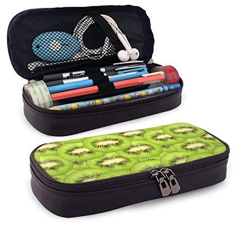 Schlampermäppchen,Schulmäppchen für Schreibwaren Federtasche Federmappe Scheiben frische reife grüne Kiwi