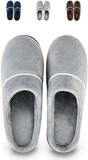 LQLD Chaussures Grande Taille Accueil Extra, Intérieur Confort Fond Épais en Peluche Chaud Chaussures Hommes avec Semelle ...